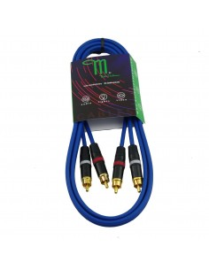 M BY METRO NT-0151 CABLE RCA-RCA 1.5M COLOR AZUL