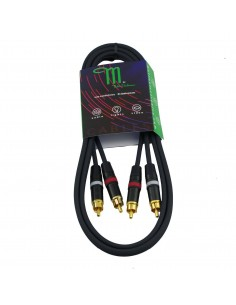 M BY METRO NT-0151 CABLE RCA-RCA 1.5M COLOR NEGRO