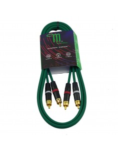 M BY METRO NT-0151 CABLE RCA-RCA 1.5M COLOR VERDE