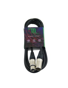 M BY METRO NT-933 CABLE DMX XLR 3 PIN M-H 3M